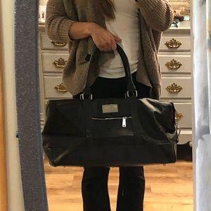 Black duffel gym bag